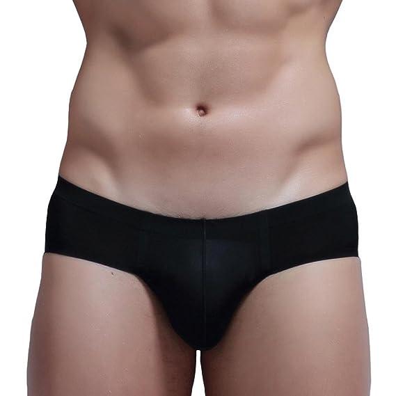 1ee9c31ec964 Sunward Men's Ultra-Thin Soft Sheer Mesh Underwear Sheer Mesh Brief, Panties  Medium Black