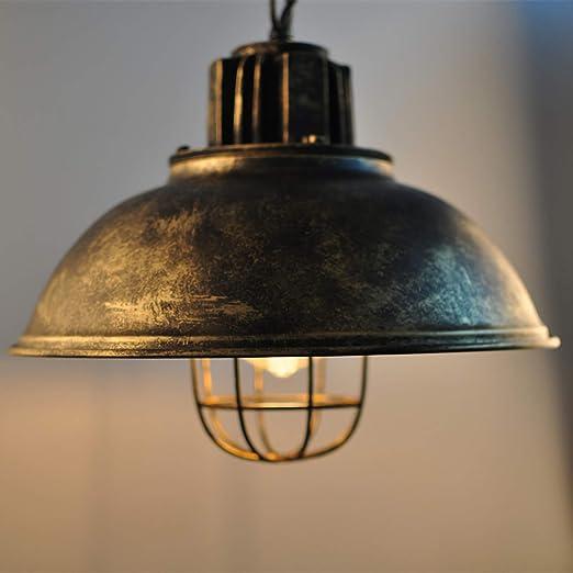 Retro Industrial Pendelleuchte Rustikal Vintage Hängeleuchte Eisen Antik E27 Hängelampe 1 flammig Küche Wohnung Flur Loft Esszimmer Lampe Pendel