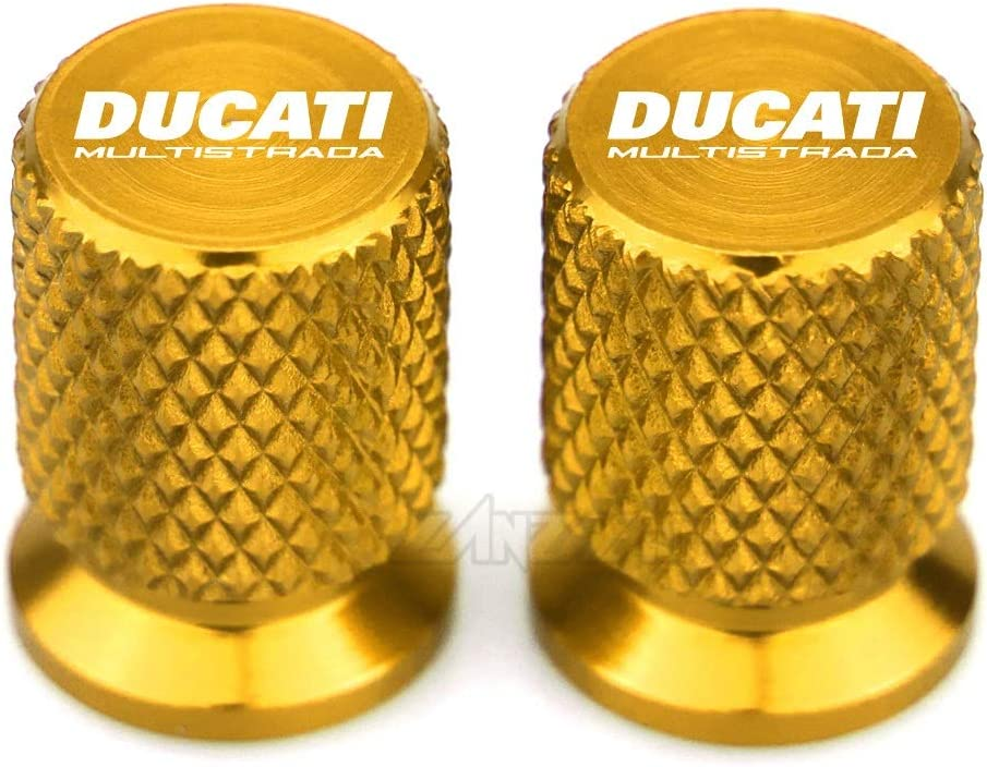 USPANDI Cap CNC de Aluminio de v/álvula del neum/ático Puerto de Aire Cubierta Accesorios de la Motocicleta Ducati Multistrada for 950 1100 1260 1200 S Sport Grand Tour