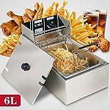 Bestcooker 6L Electric Deep Fryer Commercial Tabletop Restaurant...