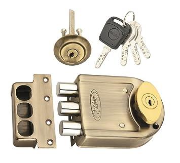 ad51524b95b Spider Tri Bolt Door Lock with Antique Brass Finish (DLTB03AB) with 4 Brass  Computer