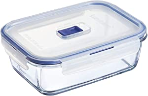 Luminarc Pure Box Active Glass Food Storage Container with Sliding Vent Lid (Rect. 5.1 Cups / 1.2L)