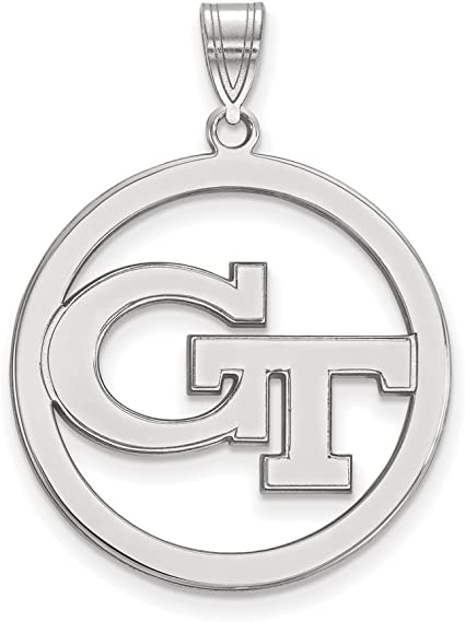 Georgia Large 3//4 Inch Sterling Silver Pendant