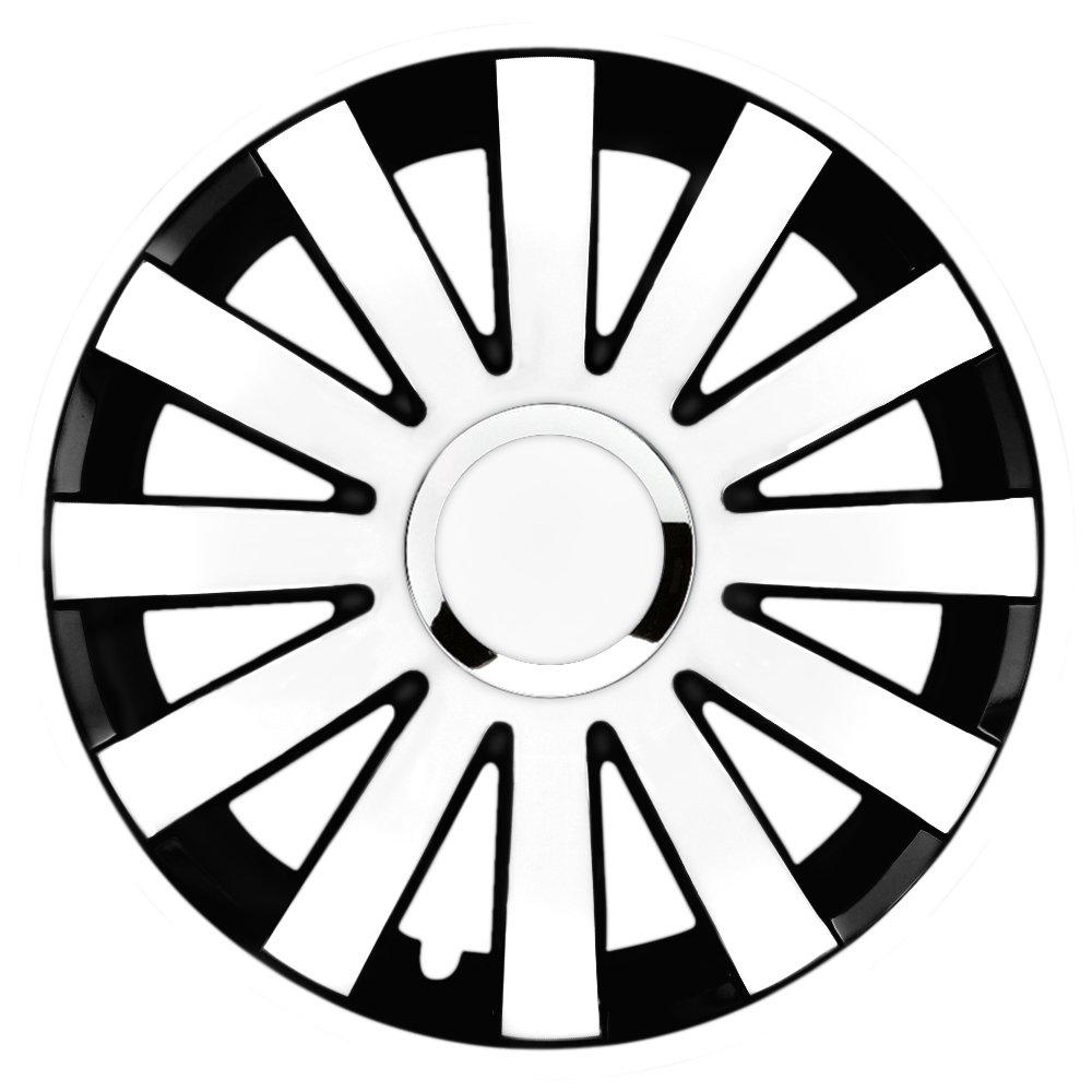 14 pulgadas bicolor Tapacubos Onyx RC DC (Blanco/Negro con anillo cromado). Tapacubos apto para casi todos los Seat Vehículos: Amazon.es: Coche y moto