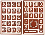 Office Products : Armour Etch Over N Over Stencil, 1-Inch High Alphabet, 2 Pages