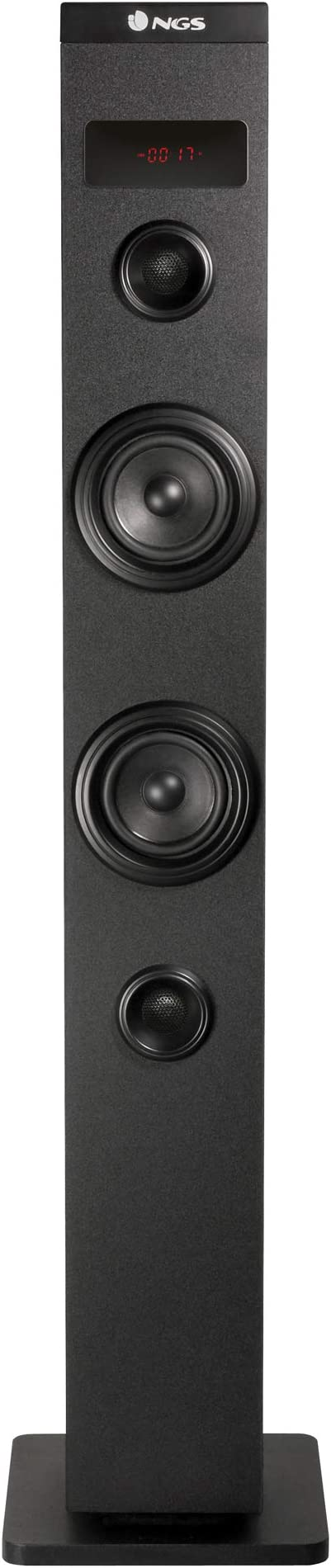 Ngs Sky Charm 50w Bluetooth Sound Tower Mit Fernbedienung Optischem Eingang Usb Fm Radio Und Aux In Schwarz Audio Hifi