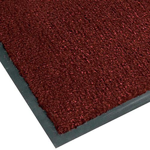 T37 Atlantic Olefin 434-334 3' x 10' Crimson Carpet Entrance Floor Mat - 3/8'' Thick By TableTop King by TableTop King