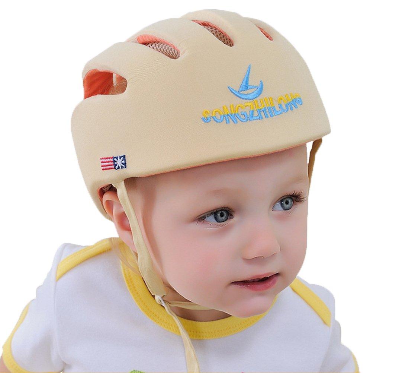 E Support Casque Enfant en coton douce confortable réglable de no Choc Chapeau de protection Bonnet anti collision bébé Sécurité de protection Hat EE Support