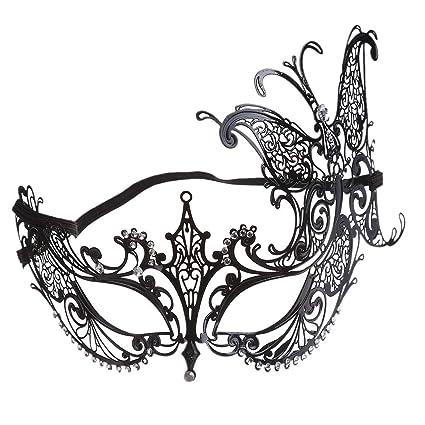 LJJTDS Máscara De La Forma De La Mariposa del Arte del Hierro del Metal De La