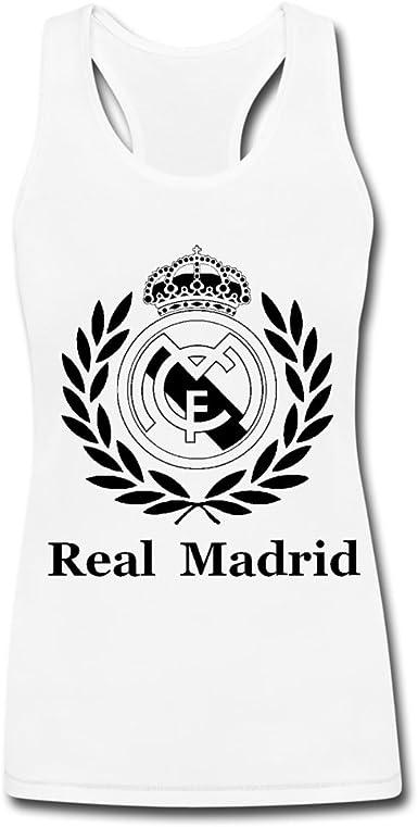 Camiseta sin mangas con logo de Real Madrid para mujer ...