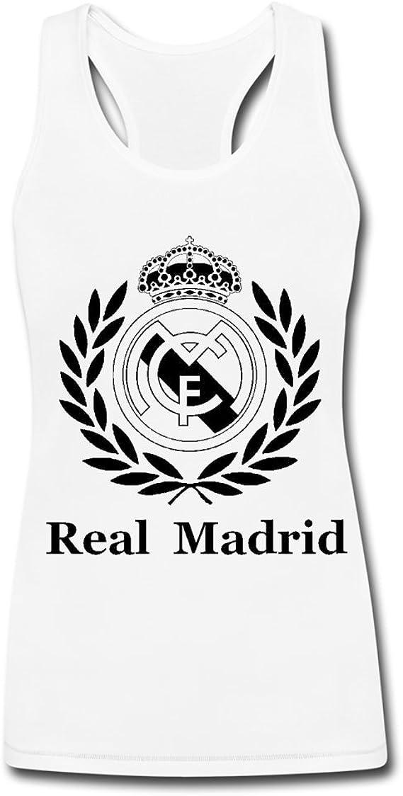 Camiseta sin mangas con logo de Real Madrid para mujer: Amazon.es ...