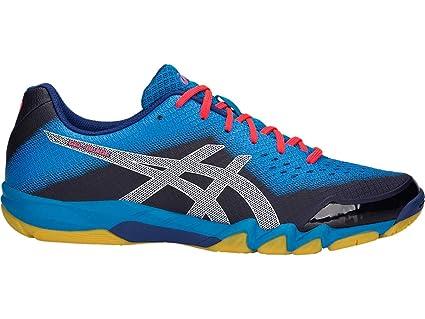 Asics Men's Gel Blade 6 Non Marking Indoor Court Badminton and Squash Shoes  - Black/Silver/Glacier Grey