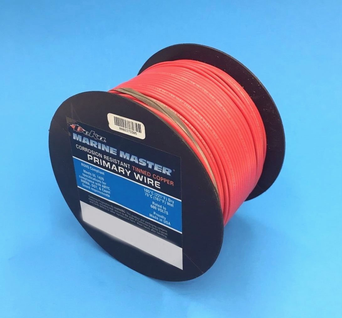 Amazon.com: Deka 16AWG RED Marine Tinned Copper Boat Stranded Wire ...