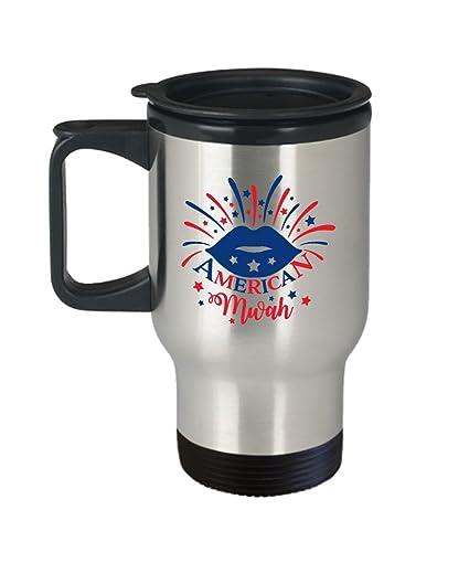55bf13551e4 American Kiss Mug – July 4Th Mugs – Best Cute Unique Funny 4Th Fourth Of  July
