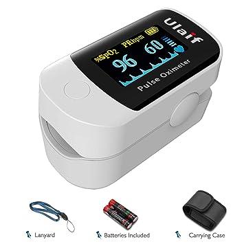 Ulaif Fingertip Pulse Oximeter, OLED Portable Oximetry Blood Oxygen  Saturation Monitor SpO2 Finger