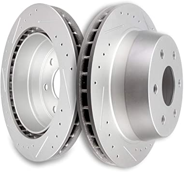 Rear Rotors Metallic Pads For Avalanche Express Suburban Yukon Escalade Savana
