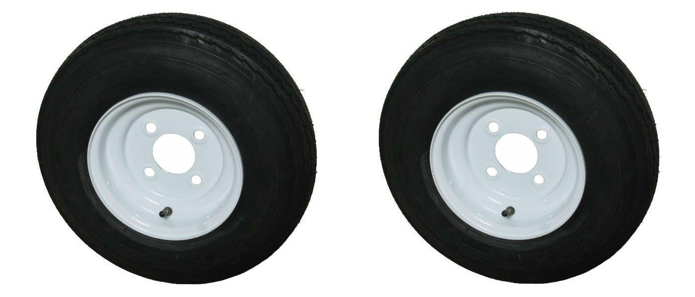 Kenda Loadstar 2 Pack 5.70-8 LRD Bias Trailer Tire & Wheel White 4-4.0