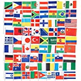 Juvale 72-Pack of Country Flags - International Flags of the World, Party Decorations, 72 Different Countries, Assorted Colors, 7.5 x 5.2 Inches