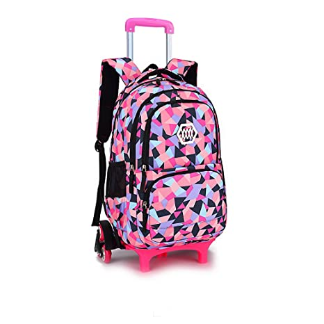Meetbelify Kids Rolling Backpacks Luggage Six Wheels Unisex Trolley School  Bags Climbing Stairs Black For Girls  Amazon.ca  Luggage   Bags 2fbbf9c435329