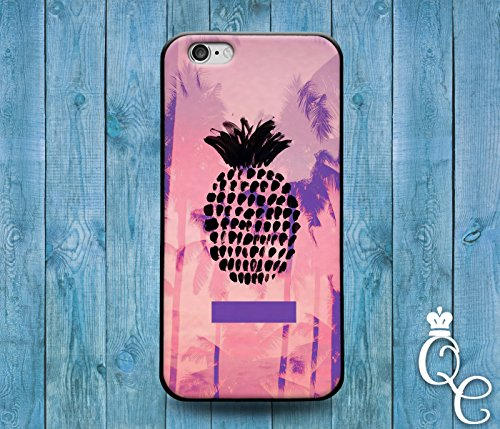 Price comparison product image *BoutiqueHouse* iPhone 4 4s 5 5s 5c SE 6 6s plus iPod Touch 4th 5th 6th Gen Cute Pineapple Fruit Palm Trees Pink Black Purple Girl Cool Phone Cover Case(Samsung Galaxy S6 Edge Plus)