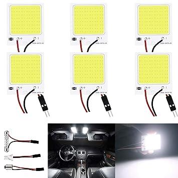 JAVR - Pack de 6 luces LED de 300 lúmenes, muy brillantes ...