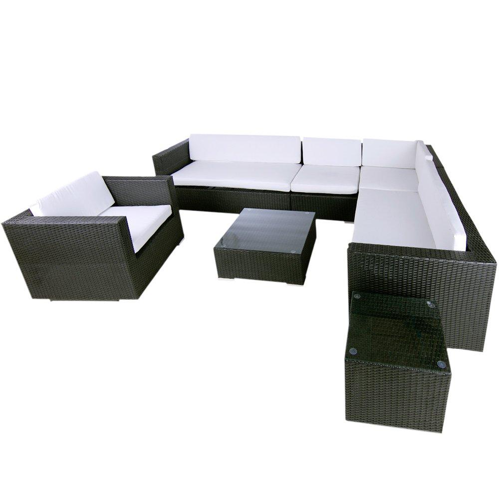 polyrattan lounge havanna schwarz g nstig online kaufen. Black Bedroom Furniture Sets. Home Design Ideas