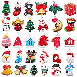 Best Epic Trends 61tumSYWu-L._SS300_ Alpurple 30 PCS Mini Resin Christmas Ornaments-Micro Landscape Ornament Decoration for Mini Christmas Tree and DIY Fairy…