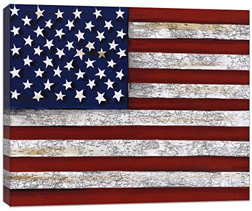 Doodlefish US Flag Artwork Wall Decor, Red/White/Blue by Doodlefish