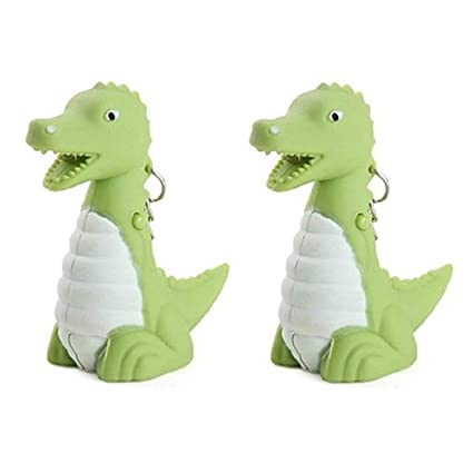 Amazon.com: Mini Cute Dinosaur LED llavero con sonido ...