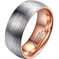 PAURO Men and Womens Tungsten Carbide Comfort Fit Wedding Band Brushed Matte Finish Ring