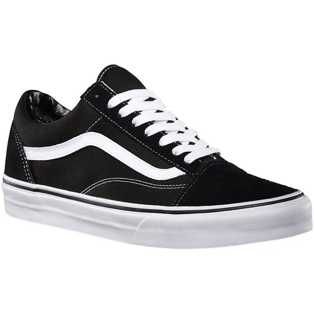 Vans Men's, Old Skool Skate Shoe Black White 11.5 M by Vans
