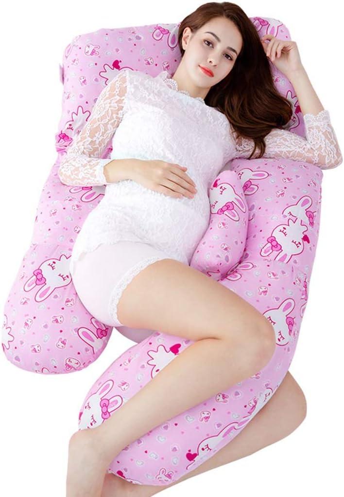 Pregnant Women Pillow Children'S Fence Seite Sleeping Pillow Pillow Lumbar Pillow vier Seasons Apply Bett Linings Feeding Pillow (Color : Pink, Size : 1708020Cm)