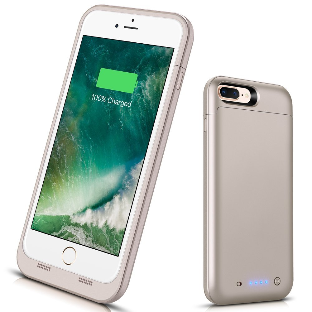 Battery Case for iPhone 7/8, [Upgraded] VinPone 6000mAh Portable Protective Charging Case Rechargeable Charger Case Extended Battery Pack Compatible with iPhone 7/8 (4.7 inch)-Black