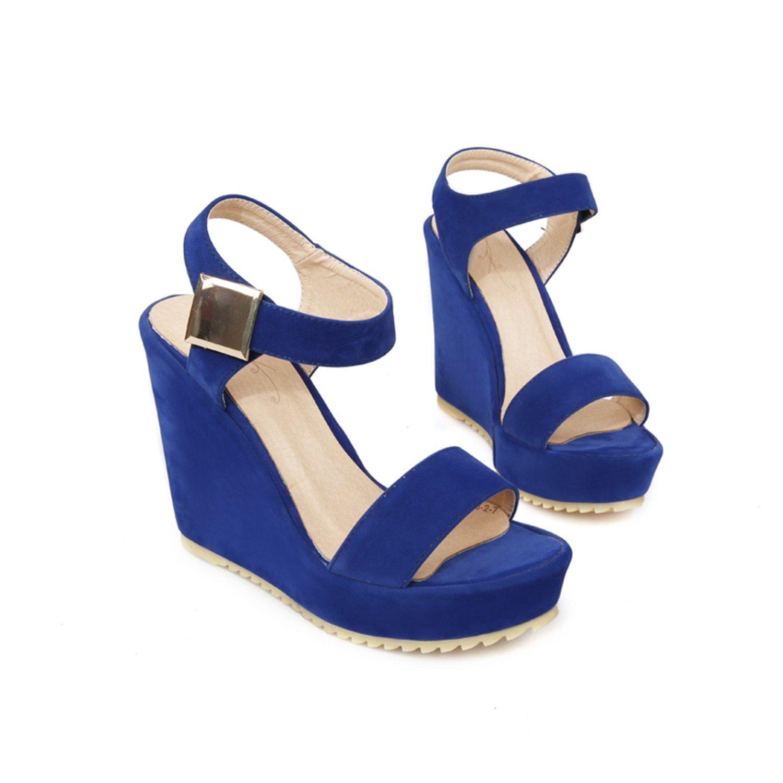 WalterTi Superior Qality comfortable Bohemian Wedges Women sandals for shoes high platform open toe flip flops B074V2FCHJ 6 B(M) US|Blue