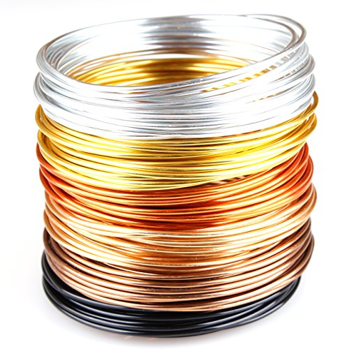 - Creacraft Beading Wire Set Golden Autumn: 6 Colors of Tarnish Resistant Anodized Aluminium Wire, 16ft per Coil (2mm (12ga))