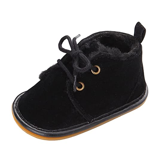 75a3eb012470 Image Unavailable. Image not available for. Color  M A Baby Boys Girls  Prewalker Winter Warm Plush Shoes