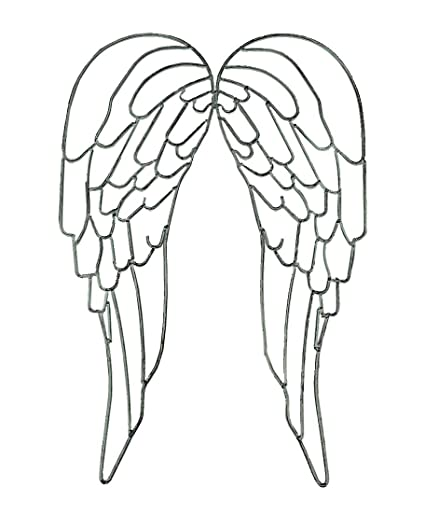 Amazon Com Distinctive Designs Metal Wire Art Angel Wings Wall