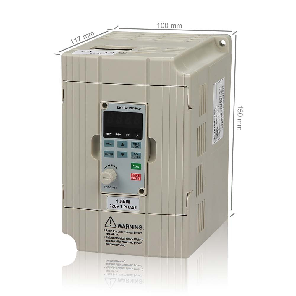 LAPOND SVD-ES Series Single Phase VFD Drive VFD Inverter Professional  Variable Frequency Drive 1.5KW 2HP 220V 7A for Spindle Motor Speed  Control(VFD-1.5KW): ...