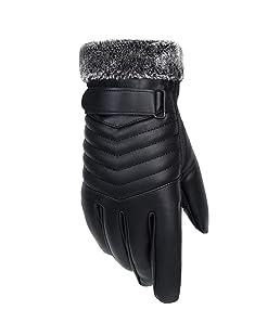 Hunpta@ Fahrradhandschuhe Winter Sport Warm Touchscreen Laufen Arbeit Outdoor Gloves Damen Herren Rutschfest Winddicht schwarz Fitness Camping Wandern Reiten Bergsteigen Spleißen Handschuhe by (B)