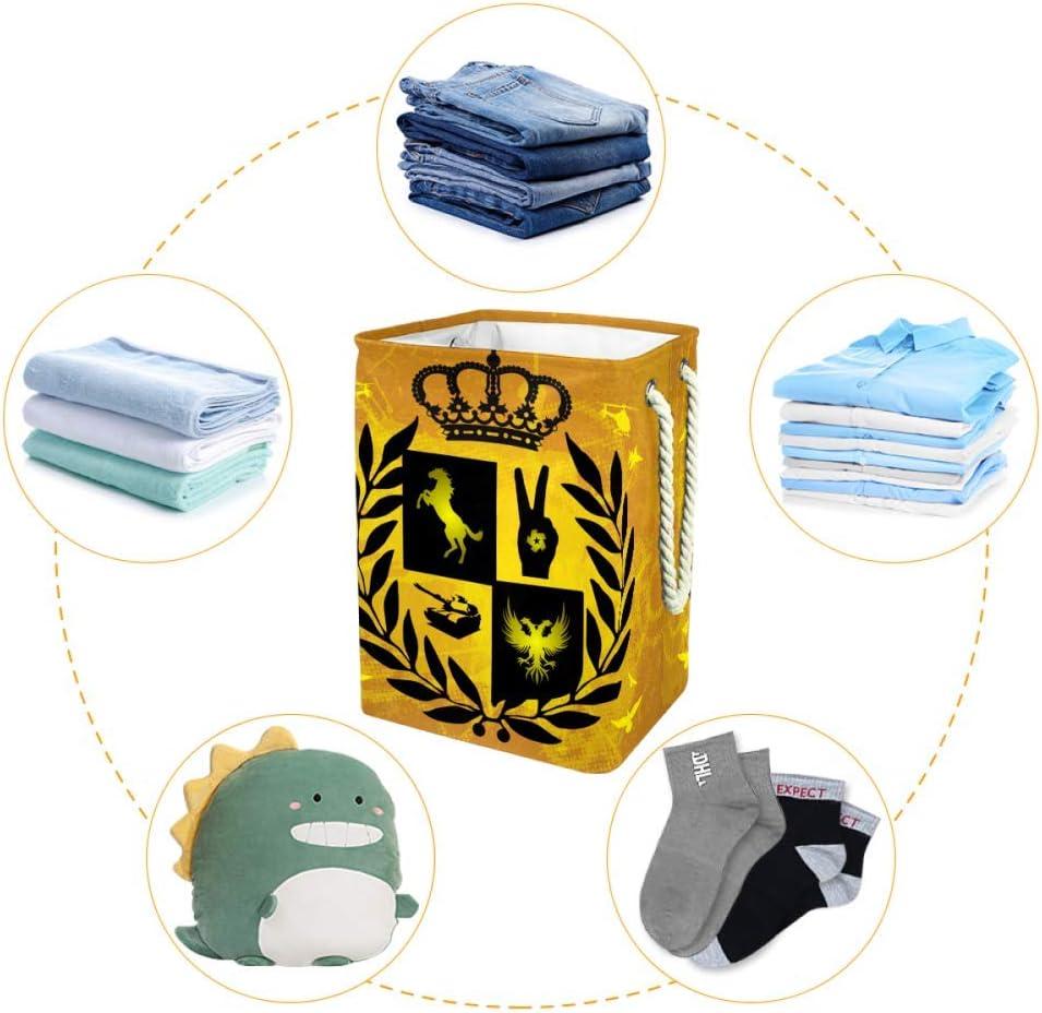 Lurnies Feuille de carthame Panier à Linge Pliable avec poignée pour Les vêtements de Couverture de bébé/Stockage de Jouets pour Enfants 9