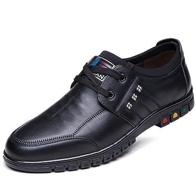 beb746a041d45f Herrenschuhe Business Casual Männer Schuhe Schnürsenkel Comfort Schuhe ,Black-38