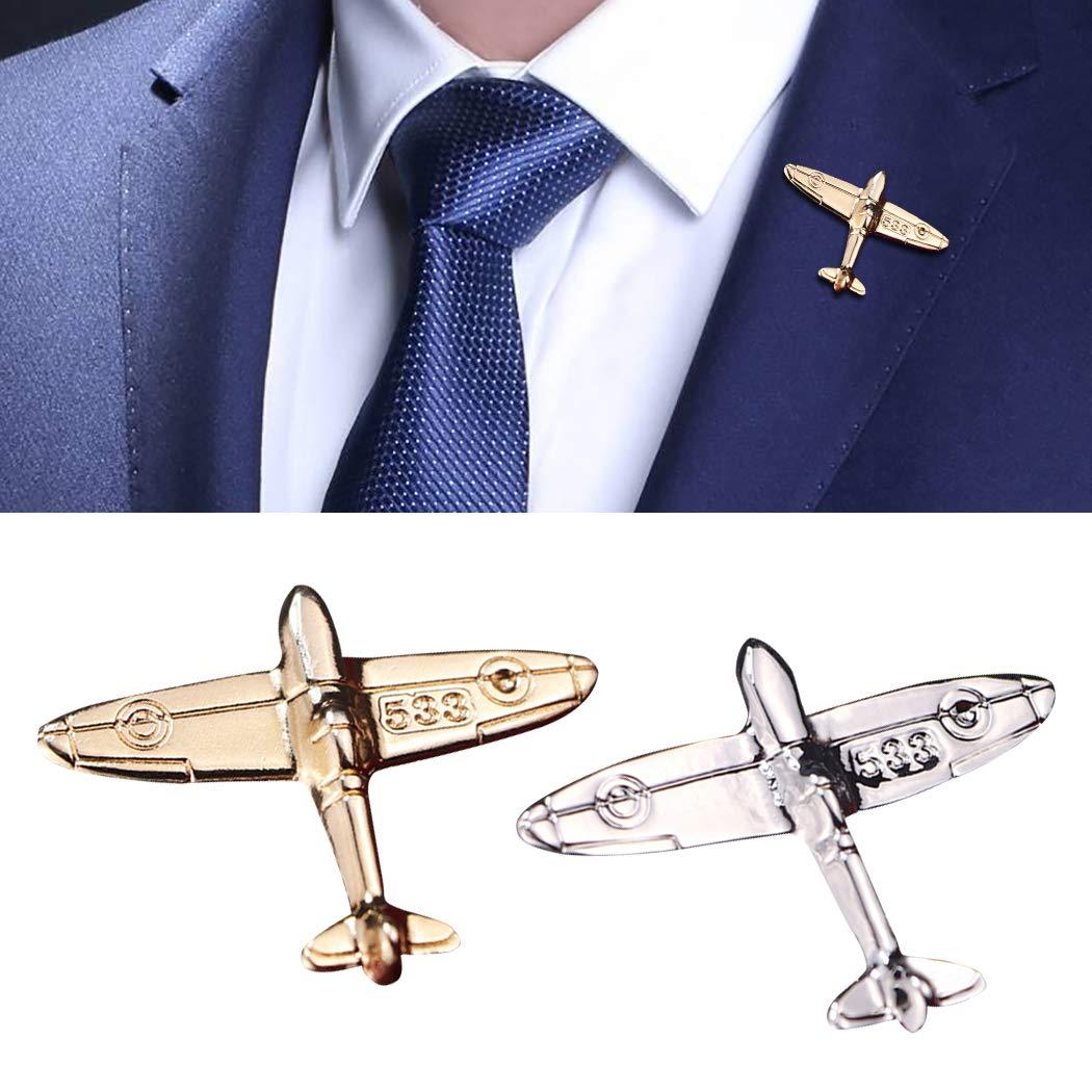 Zoylink Broche Broche Forme Avion V/êtements Broche Broche Corsage Broche pour /Écharpe Robe