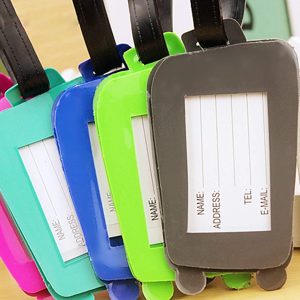 Clispeed 5 PZ Cartoni da viaggio valigia Etichette per bagaglio Fashion ID Tag Indirizzo Porta identificatore Etichetta viaggio Accessori