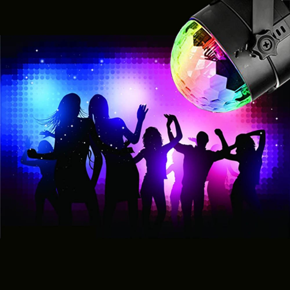 Disco Ball Strobe Light Party Lights Disco Lights Karaoke Machine 3W Dj Light LED Portable 7Colors Sound Activated Stage Lights for Festival Bar Club Party Outdoor and More (with Remote) by bestcan (Image #4)