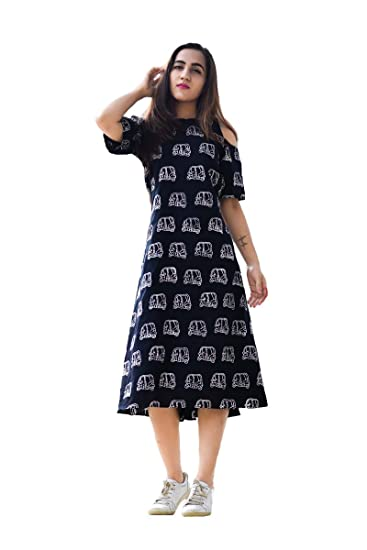 e3438d10ef7b Royal Export Women s A-Line Knee-Long Dress  Amazon.in  Clothing    Accessories