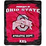NCAA Officially Licensed Micro Raschel Plush Grunge Series Fleece Throw Blanket