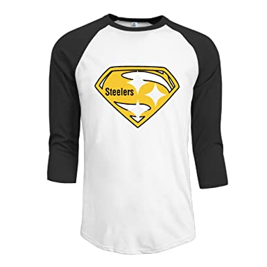 Amazon.com  Duola Men s Baseball Tshirt Pittsburgh Steeler Size M ... af688fc0d