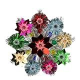 Northlight Lighted Tinsel Starburst Star Christmas Tree Topper with Multicolored Lights, 8.5""