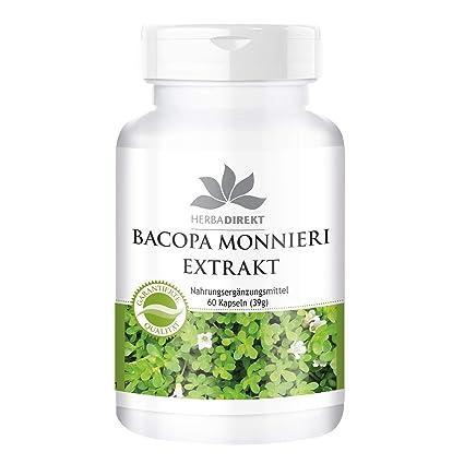 Extracto de Bacopa Monnieri – Herbadirekt – con el 20% de Bacósidos