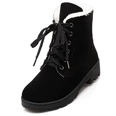 Nubuck Metal Rivets Artificial Plush Women's Ankle Boots